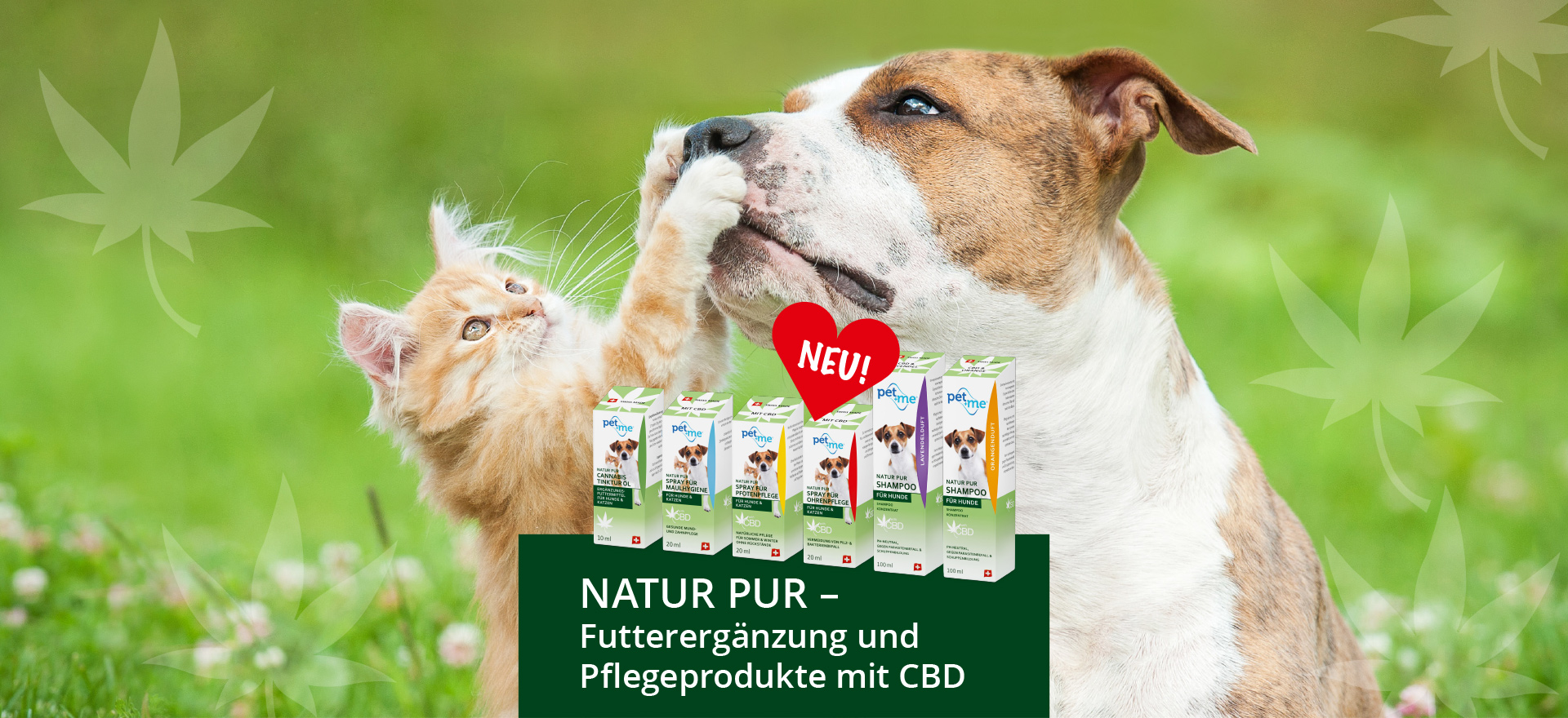 Slide pet+me® CBD-Produkte