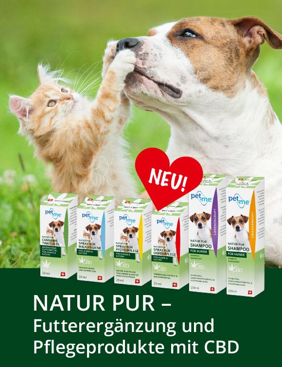 pet+me® CBD-Produkte Slider